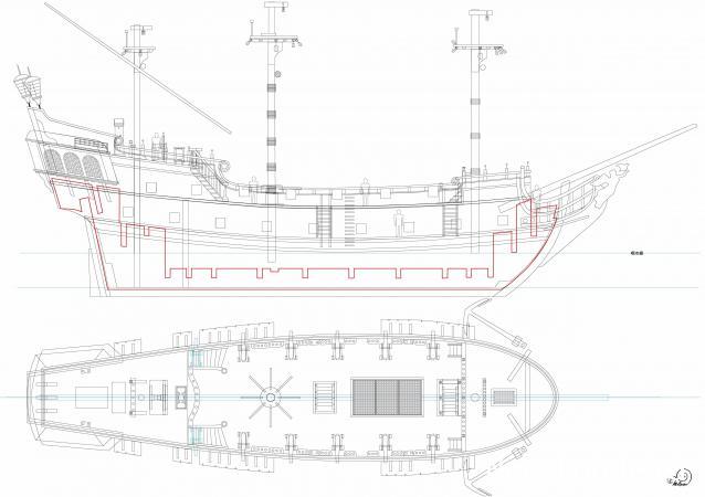 Чертежи корабль черная жемчужина модель из дерева