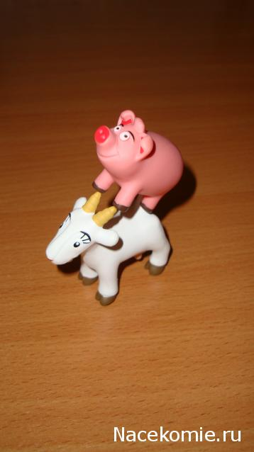 свинка коза банан сверчок мультик