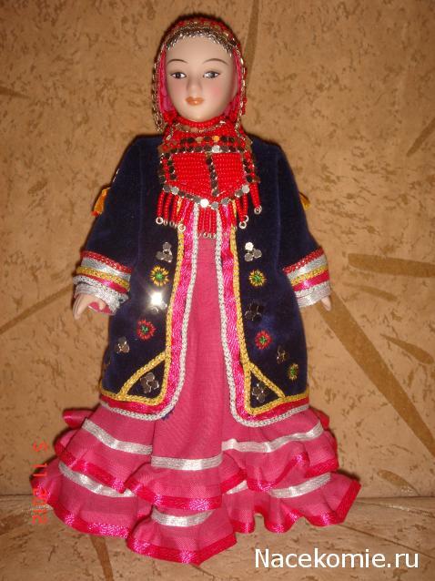 Куклы в башкирских костюмах