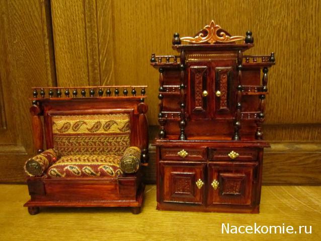 Мебель из зубочисток  для кукол