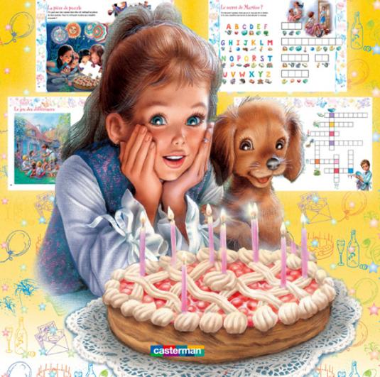 Мерцающая открытка с днем рождения дочери 27