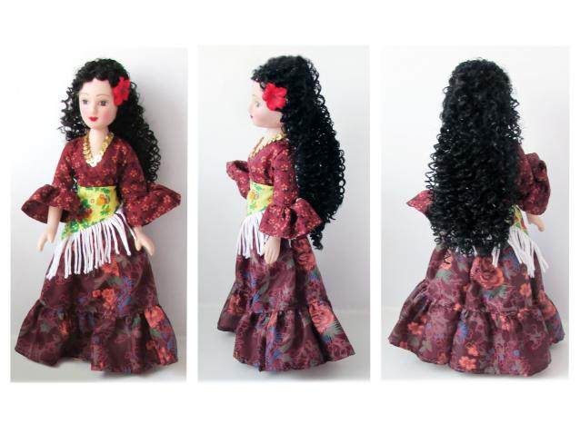 Платье цыганки для куклы как сшить 94