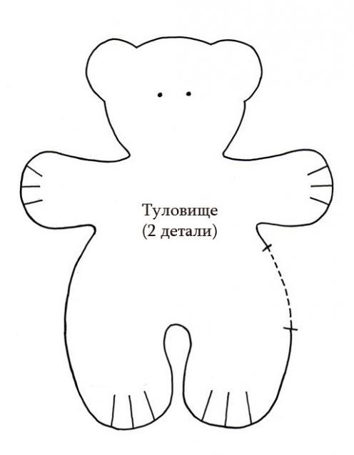 Как сшить мишку из