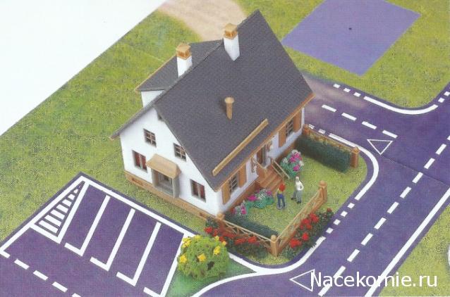 Железная Дорога в Миниатюре №29 - Детали дома, бумажная вставка для дома
