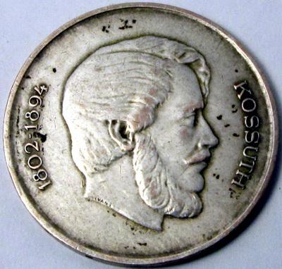 Монеты и банкноты №211 5 форинтов (Венгрия), 100 золотых солей (Перу)