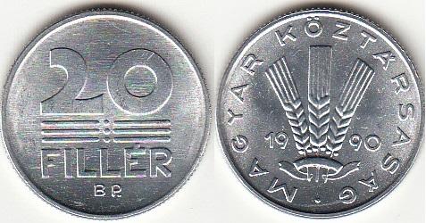 Венгерские монеты 1850 злотых