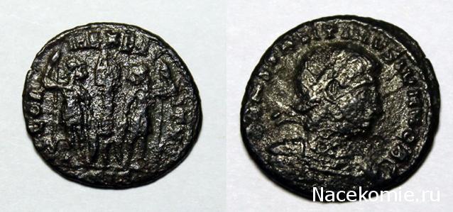 Монеты и банкноты №233 1 фоллис (Римская империя)
