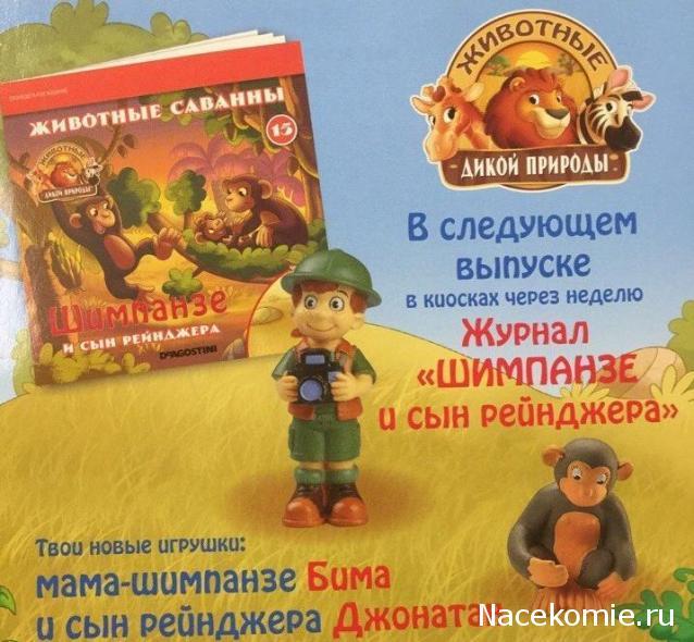 Животные Дикой Природы №15 - Шимпанзе Бима и Сын рейнджера Джонатан