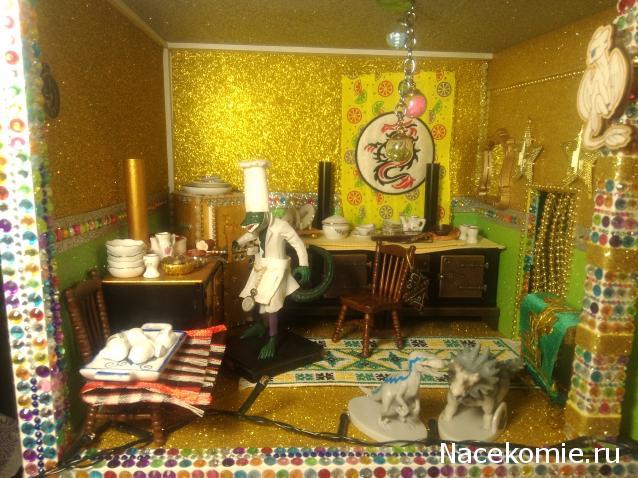 Кукольный Дом №53 - Скатерть и элементы конструкции дома: 2 профиля для крыши