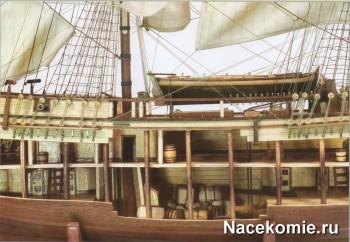 Модель корабля Баунти в масштабе 1:45