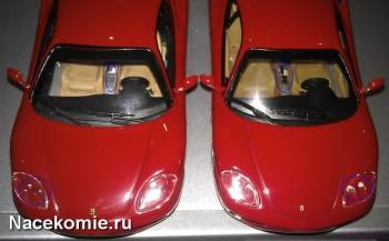 ferrari collection Сравнение моделей из Тестовой и Основной серии (тестовая справа)