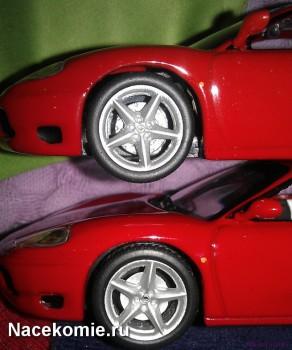 Проработка тормозных дисков у моделей из Тестовой и Основной серии ferrari collection (тестовая сверху)