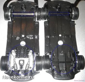 Отсутствующий двигатель на модели из Основной серии Феррари Коллекшн (тестовая слева)