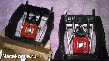 Моторный отсек у моделей из серии Феррари Коллекшн (тестовая слева)