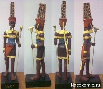 Журнал Тайны Богов Египта статуэтка бога Амон