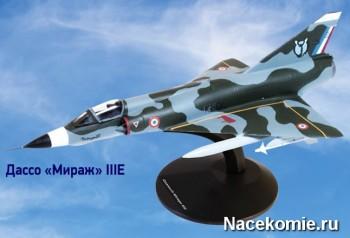 """Модель самолёта Дассо """"Мираж"""" IIIE из коллекции"""