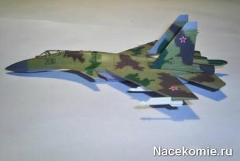 "Модель самолёта ""Сухой"" Су-35  из коллекции"