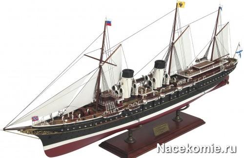 Модель яхты из журнала