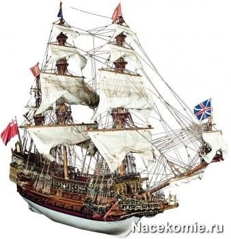 Модель корабля из коллекции Повелитель Морей