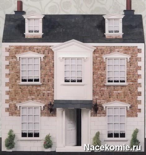 Фасад кукольного дома в викторианском стиле