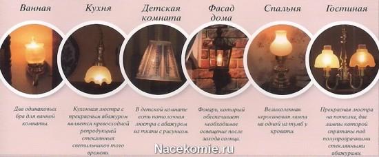 Набор светильников для кукольного дома из коллекции