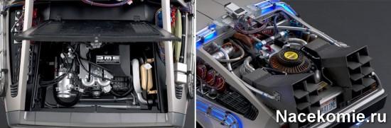 Высоко детализированный двигатель и элементы машины времени