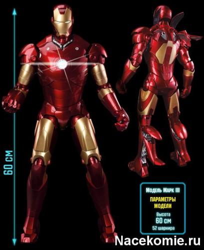 Масштабная модель костюма Железного Человека Mark III