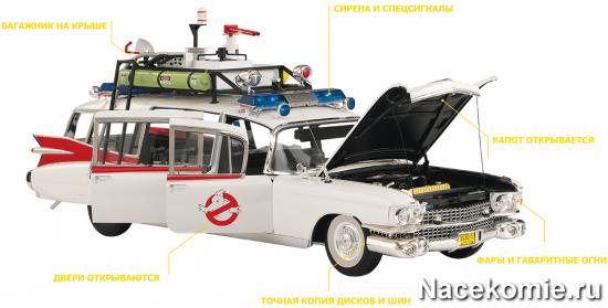 Сборная модель машины охотников за привидениями
